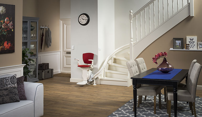 Curved Stair Lift Chair Lifts - Thyssen Flow Stairlift, Otolift ...