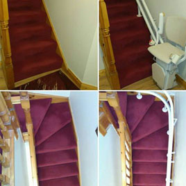 Stairlift with Power Folding Hinge