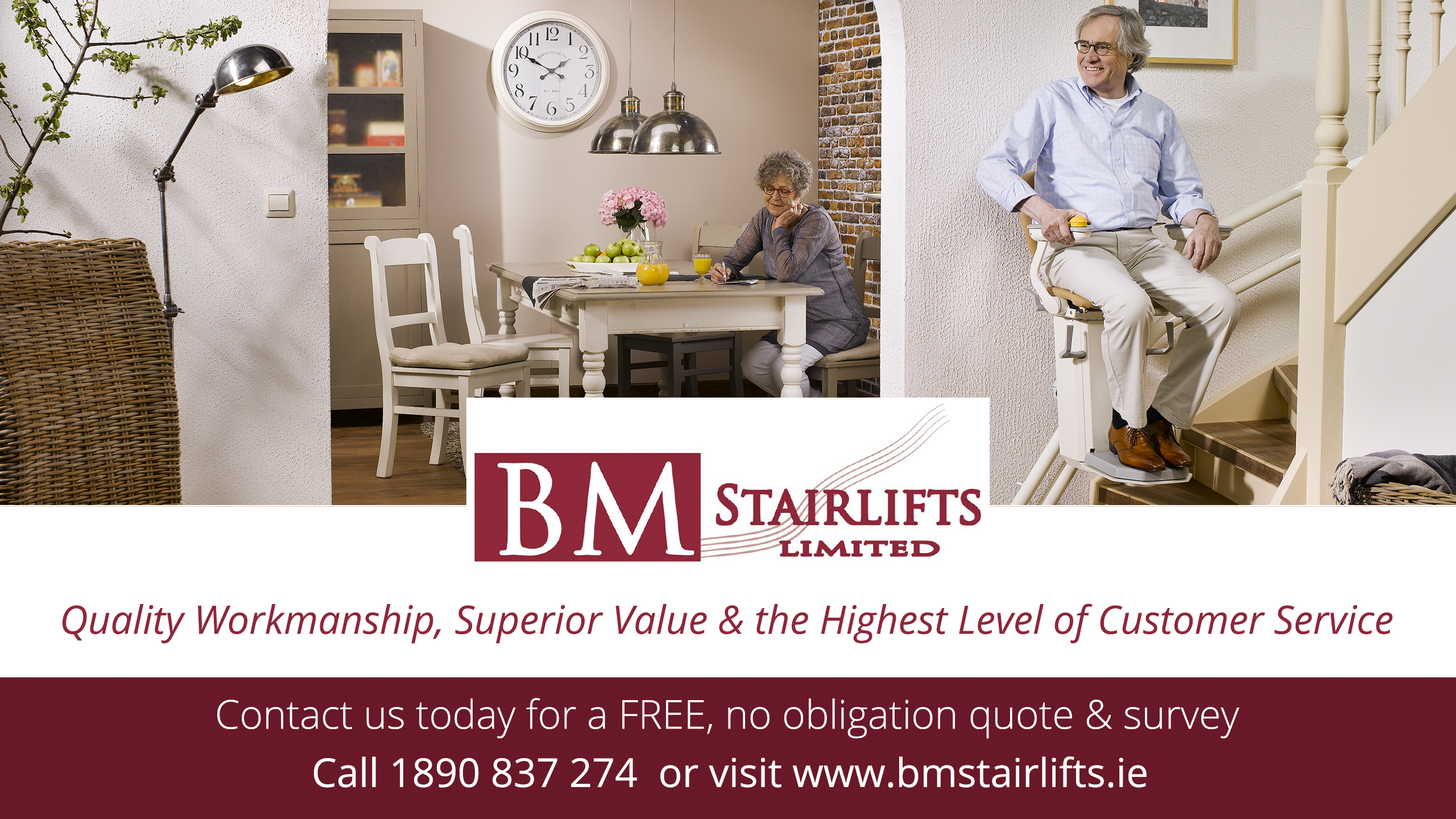 Otolift two stairlift installation