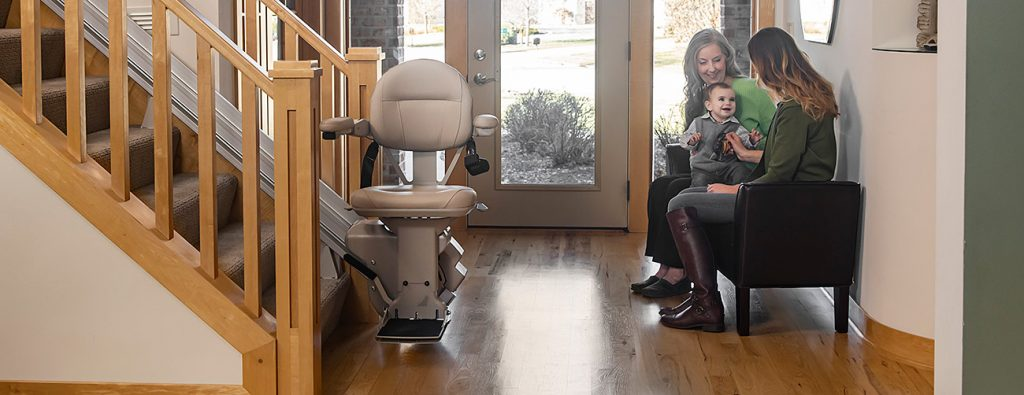 Bruno Elite Heavy Duty Stairlift for straight stairs.